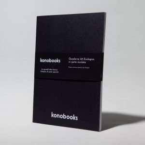 Quaderno da disegno nero ecologico - in carta riciclata Konobooks