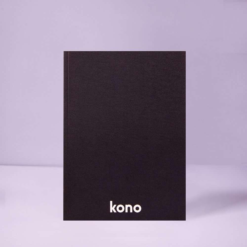 quaderno A5 Basic Black in carta riciclata - Kono Books