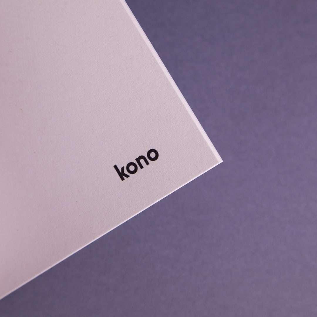 Quaderno A5 Basic Black in carta riciclata - Pagine interne - Kono Books
