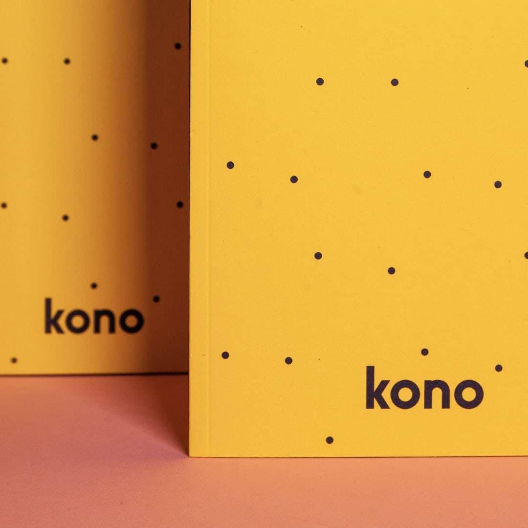 Sketchbook A5 Starship in carta riciclata - Dettaglio - Kono Books