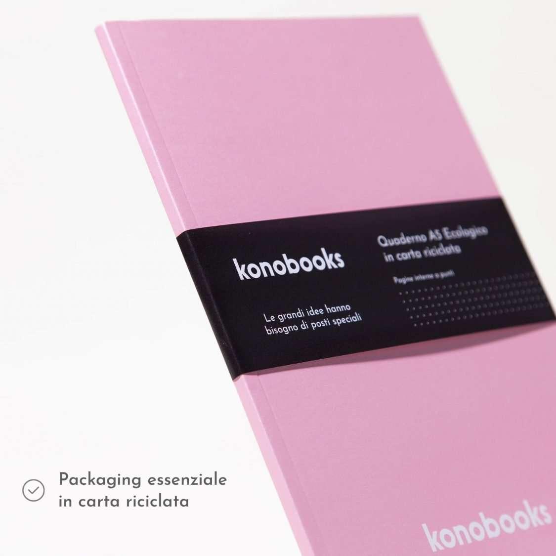 Quaderno A5 ecologico in carta riciclata - Copertina perlata