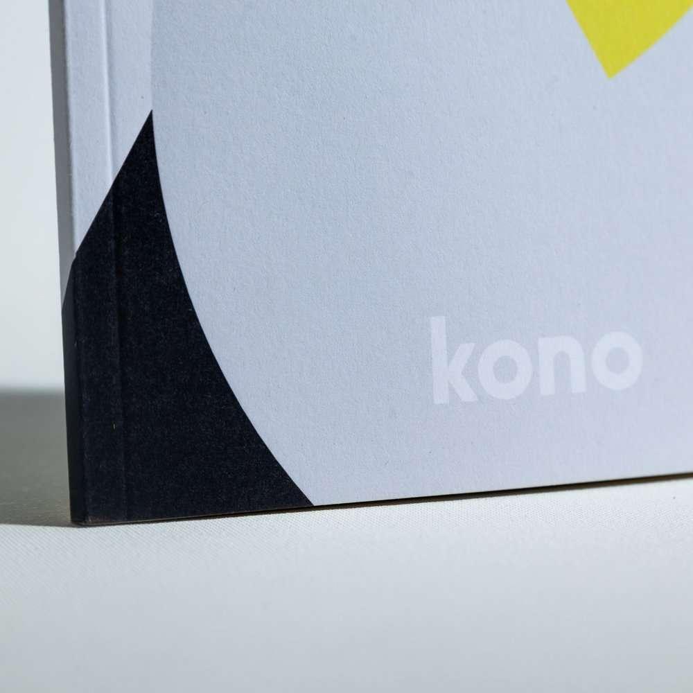 Dettaglio carta riciclata quaderno A5 2 - Kono Books