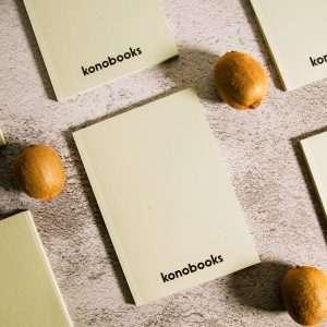 Taccuini in carta ecologica prodotta dagli scarti delle lavorazioni industriali del Kiwi - Konobooks KW1