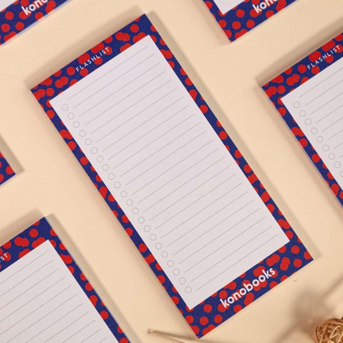 Flashlist - Block Notes To Do List Ecologico in carta riciclata al 100%