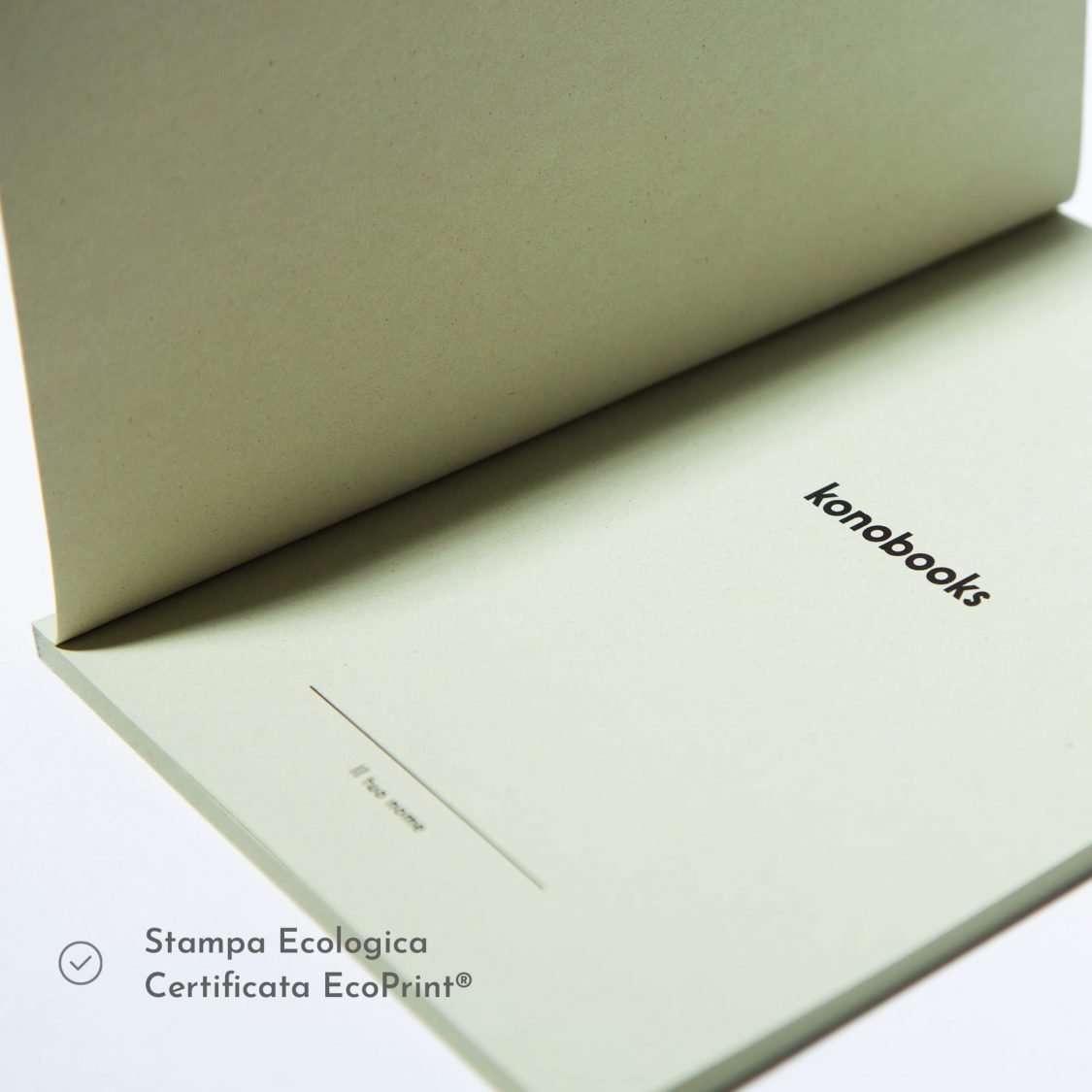 Quaderno con stampa ecologica EcoPrint - Konobooks