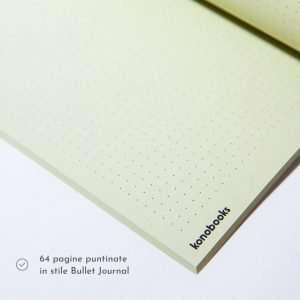 Quaderno ecologico Bullet Journal in carta Kiwi - Konobooks