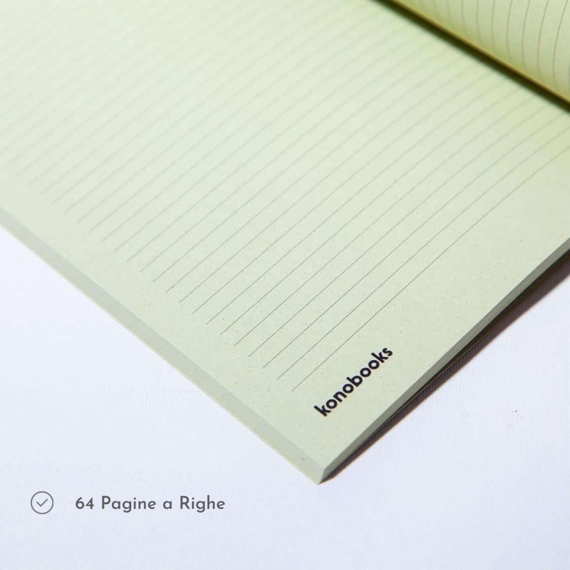 Quaderno ecologico a righe - Quaderno a righe in carta Kiwi - Konobooks