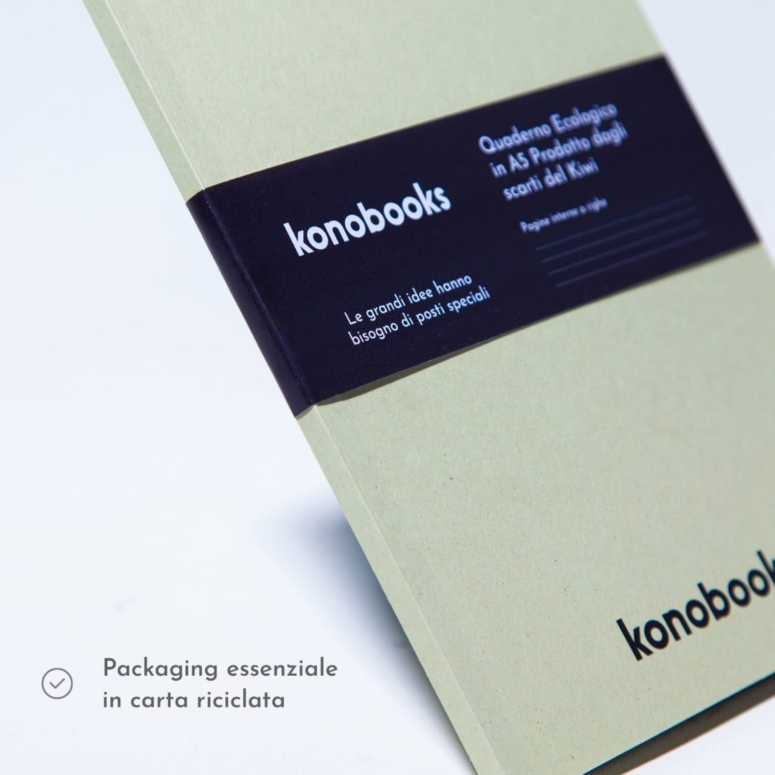 Quaderno plastic free in carta kiwi riciclata - Konobooks