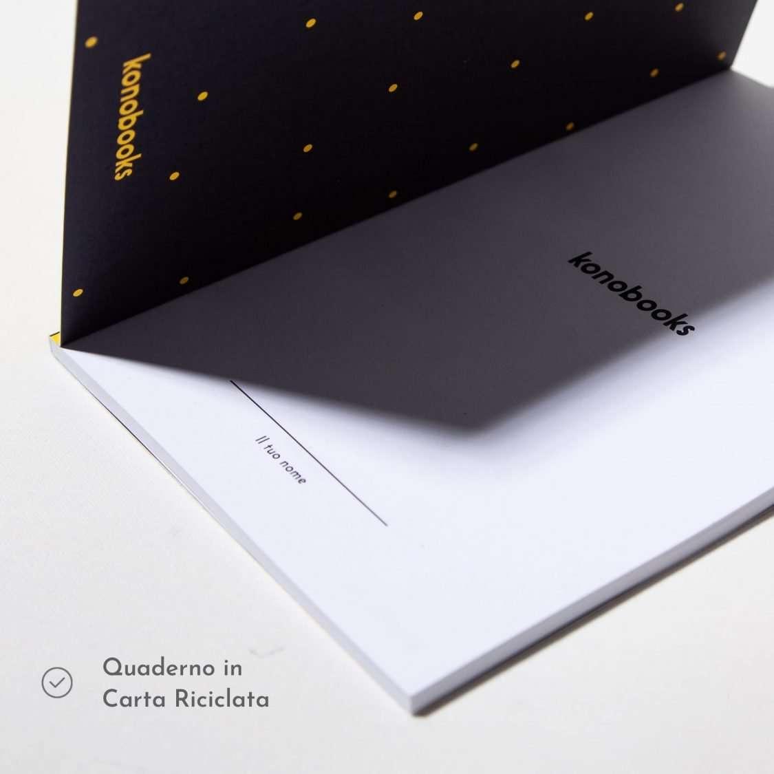 Quaderno plastic free in carta riciclata Konobooks